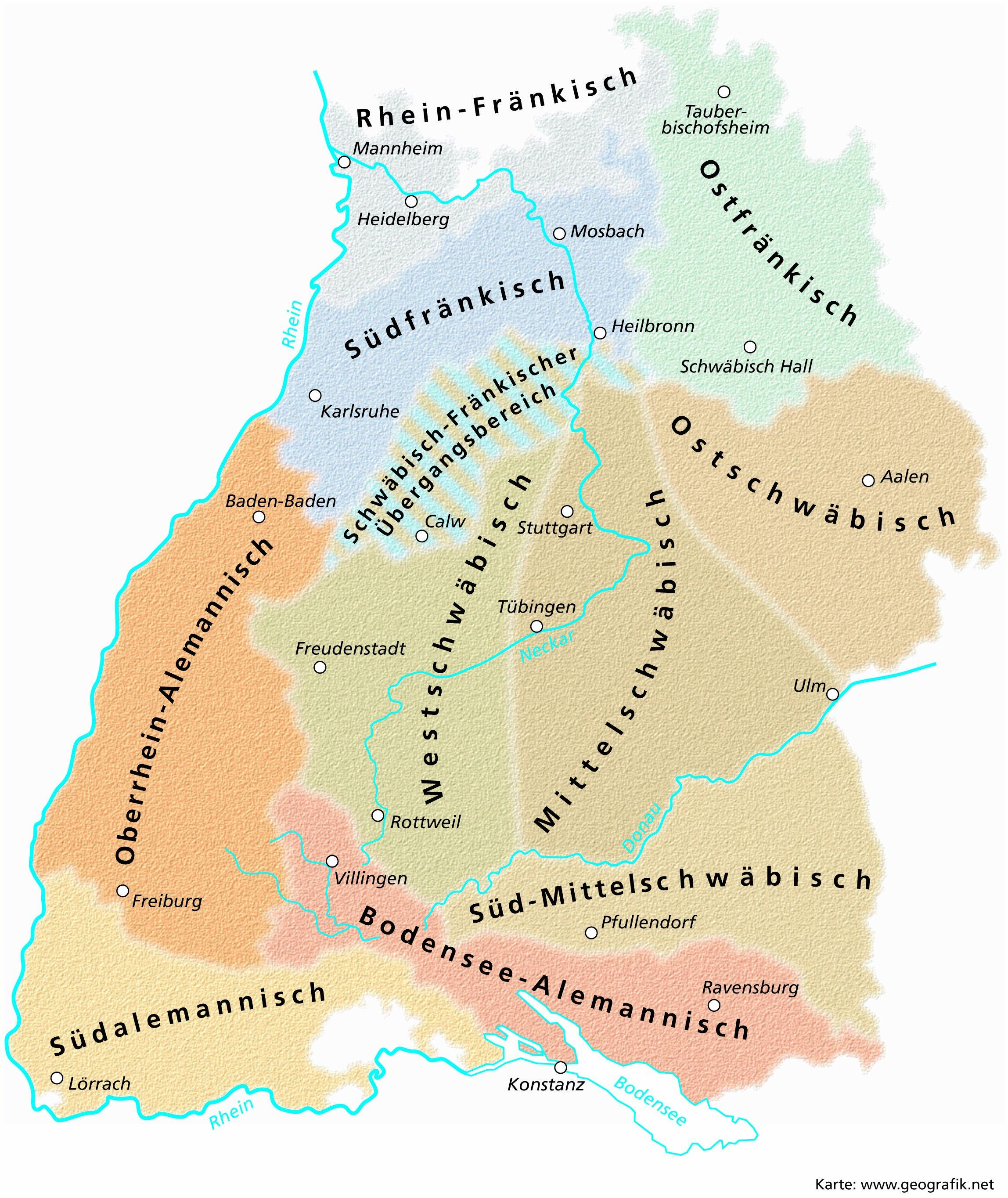Schwaben Karte Deutschland.Der Schwäbische Dialekt